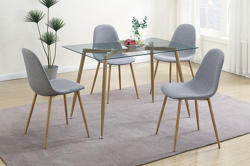 F2457 Grey 5Pc Dining Set