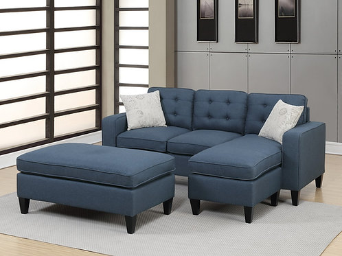 F6577 3Pcs Sectional Navy