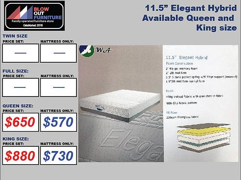"11.5"" Elegant Hybrid Memory Foam Mattress"