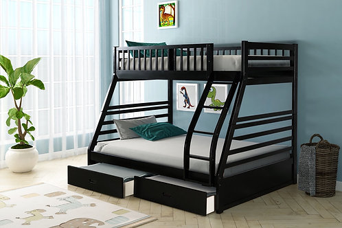 HH22Twin Over Full + 2 Drawers Bunk Bed