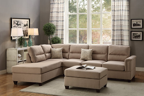 F7614 3Pc Sectional Sand
