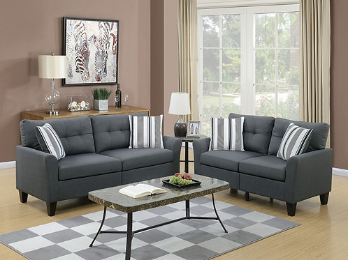 F6533 2Pc Sofa & Loveseat w/4 Pillows