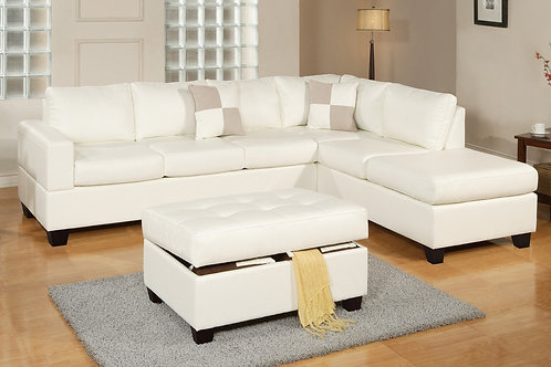 F7354 3Pcs Sectional White