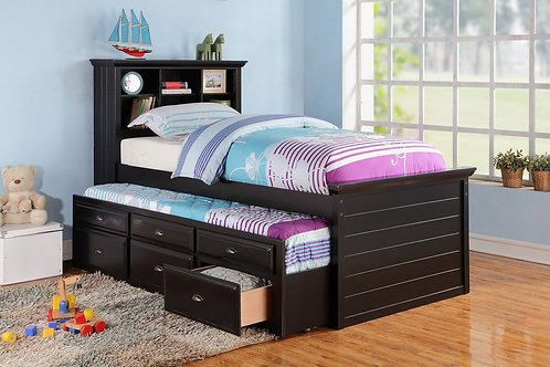 F9219 Black Twin Bed w/Trundle