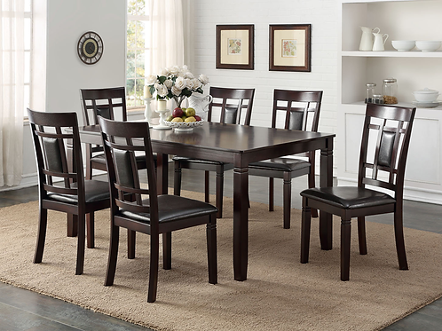 HH2325 - Dinning Table + 6 Chair Set