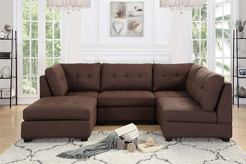 Mixology Sectional - Brown