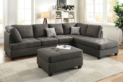 F6988 2Pc Sectional Sofa w/2 Pillows
