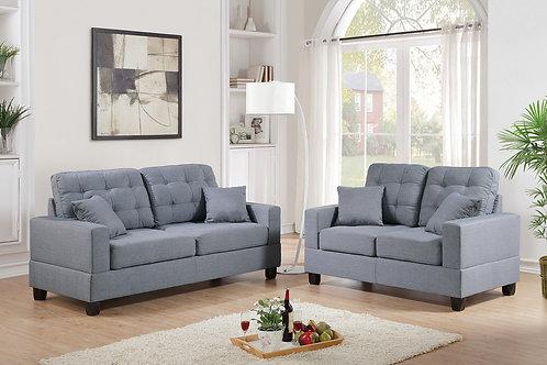 F7858 2Pc Sofa & Loveseat w/4 Pillows