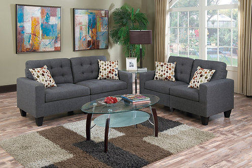 F6901 2Pc Sofa & Loveseat w/4 Pillows