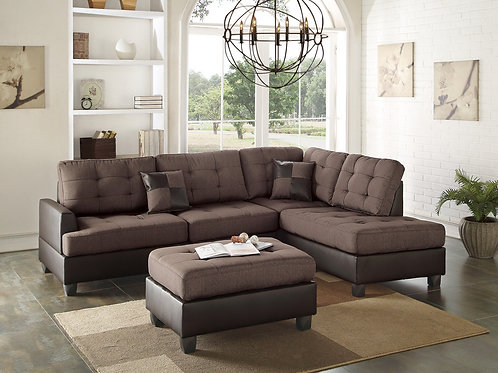 F6857 3Pcs Sectional Chocolate
