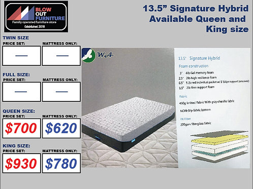"13.5"" Signature Hybrid Memory Foam Mattress"