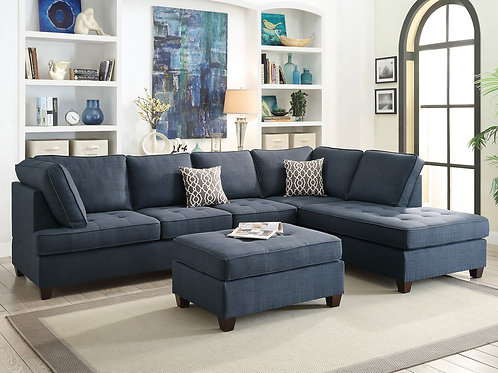 F6989 2Pc Sectional Sofa w/2 Pillows