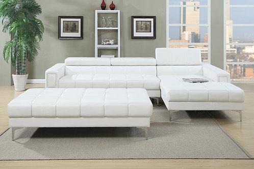 F7364 Sectional Sofa w/Flip up headrest
