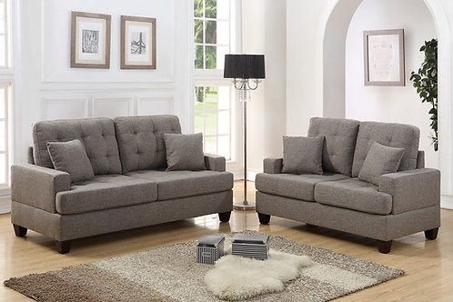 F6501 2Pc Sofa & Loveseat w/4 Pillows