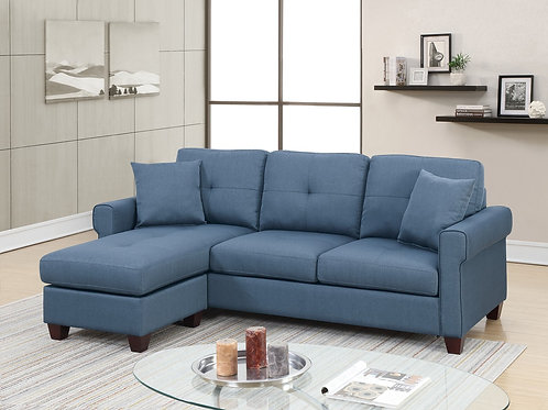 F6573 2Pcs Sectional Blue