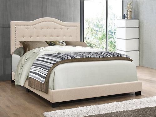 Emma Sand Linen Queen Bed