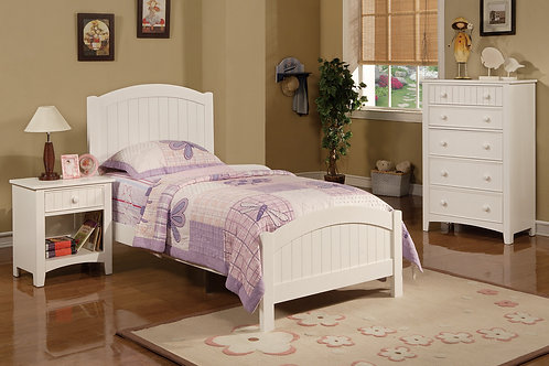 F9049 4Pc Black Twin Bed