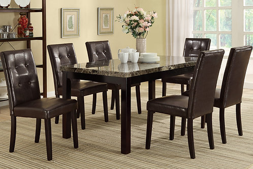 F2093 Dark Brown 7Pc Dining Set