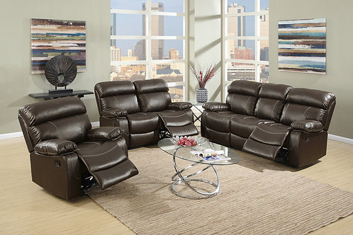 F6719 3Pc Espresso Reclining Set