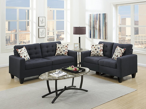 F6903 2Pc Sofa & Loveseat w/4 Pillows