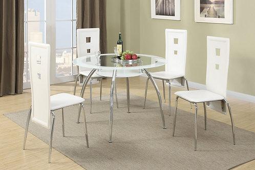 F2210 White 5Pc Dining Set