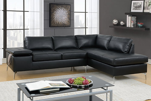 F6519 2Pc Sectional Black