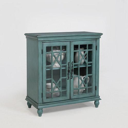 Francesca Aqua Accent Cabinet