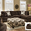 Thumbnail: Albany 8642 Sectional Chocolate