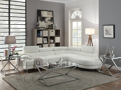 F6985 2Pc Sectional White