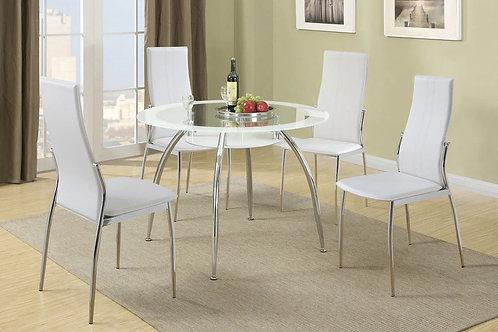 F1278 White 5Pc Dining Set