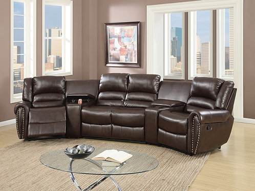 F6748 5Pc Reclining Sectional