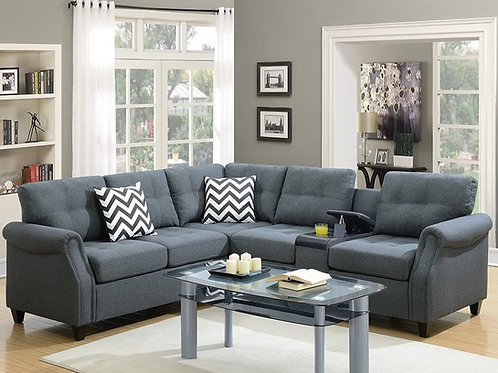F6594 2Pcs Sectional Blue Grey