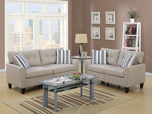 F6534 2Pc Sofa & Loveseat w/4 Pillows