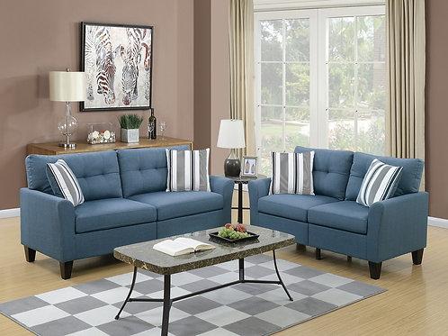 F6535 2Pc Sofa & Loveseat w/4 Pillows
