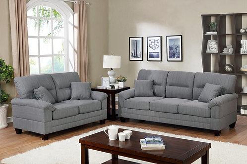 F6405 2Pc Sofa & Loveseat w/4 Pillows