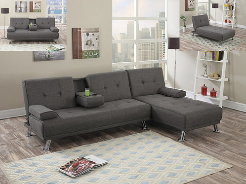 F7844/45 Slate Adjustable Sofa & Adjustable Chaise
