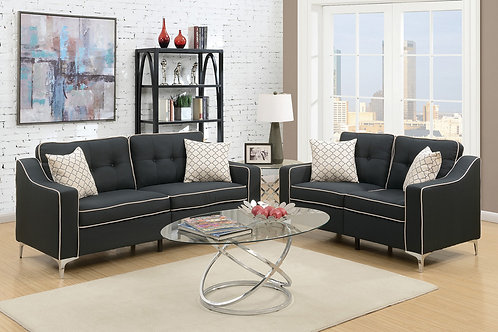 F6891 2Pc Sofa & Loveseat w/4 Pillows