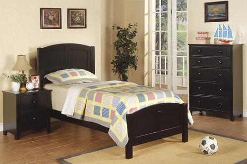 F9208 4Pc Black Twin Bed