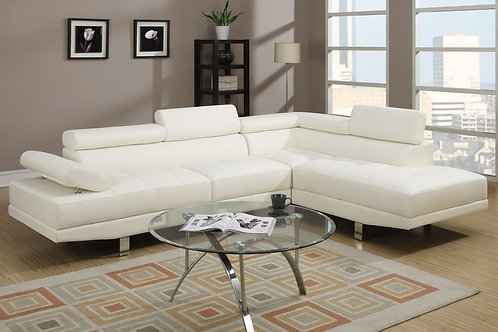 F7320 2Pcs Sectional White