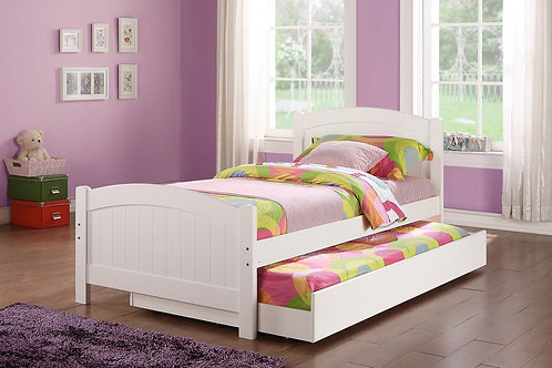 F9218 White Twin Bed w/Trundle