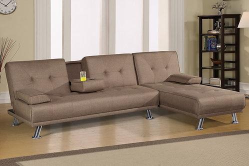 F6815/16 Light Coffee Adjustable Sofa & Adjustable Chaise