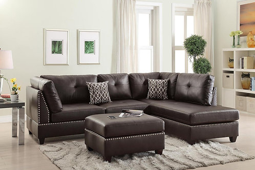 F6973 3Pcs Sectional Espresso