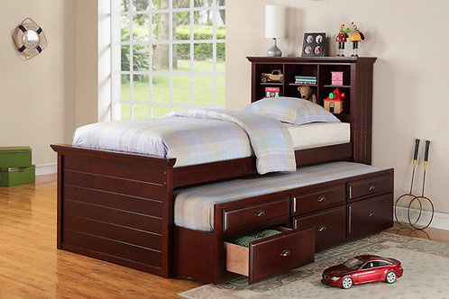 F9220 Dark Cherry Twin Bed w/Trundle