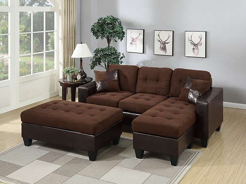 F6928 3Pcs Sectional Chocolate