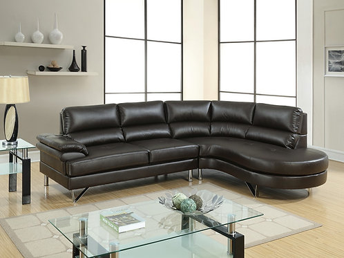 F6569 2Pc Sectional Espresso