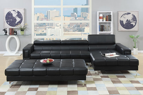 F7363 Sectional Sofa w/Flip up headrest