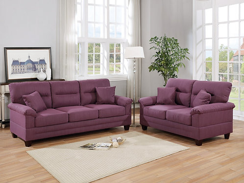 F6407 2Pc Sofa & Loveseat w/4 Pillows