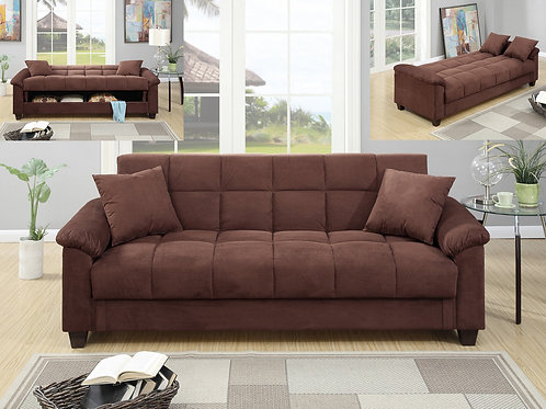 F7889 Chocolate Adjustable Sofa