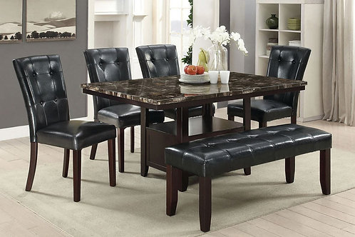 F2460 Black 6Pc Dining Set