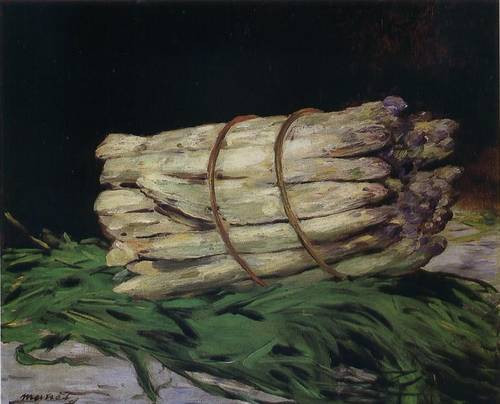 E.Manet, Mazzo di asparagi
